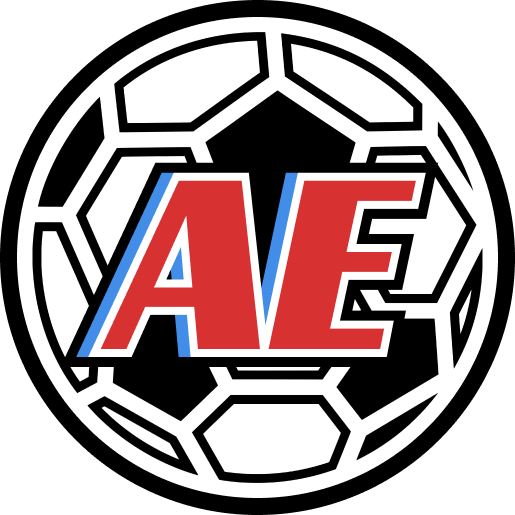 Revista AE Logo Soccer Ball with Text: AE for Arsenio Erico